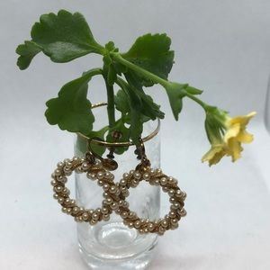 VTG Delicate Screw Wreath Earrings